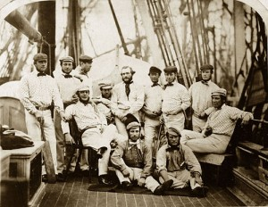 The 1859 England tour to North America. John Wisden is the small one at the back
